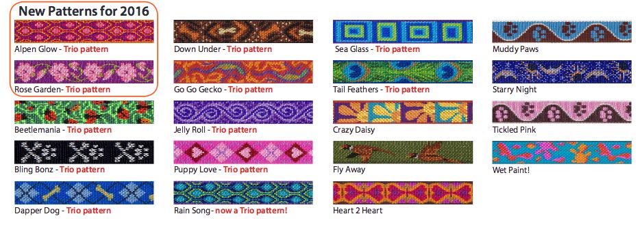 Lupine Pattern Collar Straps