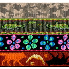 "1"" Lupine Pattern Collar Strap"