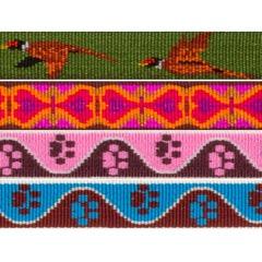 "3/4"" Lupine Pattern Collar Strap"